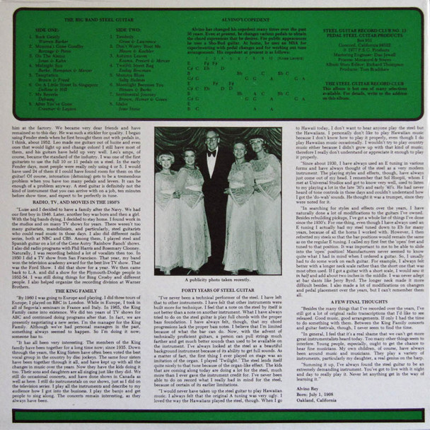 Alvino Rey  LP The Big Band Steel Guitar