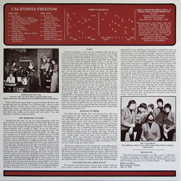 Bobby Black LP California Freedom