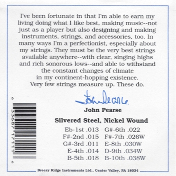 John Pearse #7110 Pedal Steel E9th Heavy