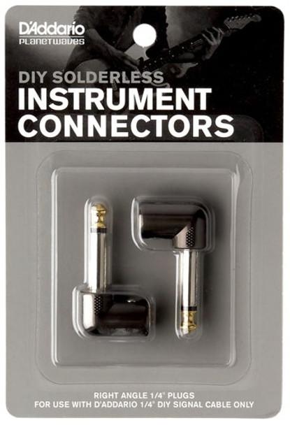 "D'Addario DIY 1/4"" Right Angle Plugs (2)"