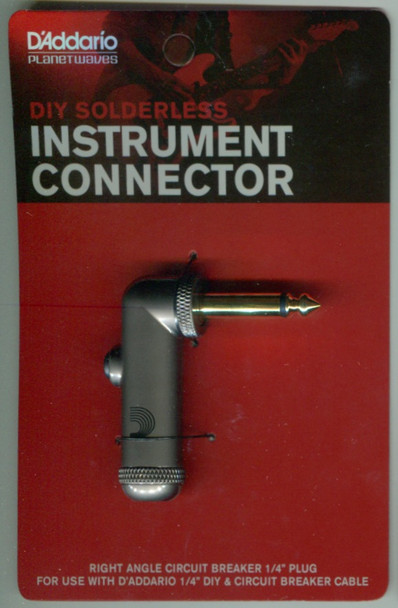 "D'Addario DIY 1/4"" Right Angle Circuit Breaker Plug"