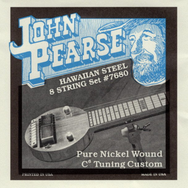 John Pearse #7680 Hawaiian 8-string (low C)