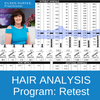 HTMA Body Mineral Balancing Program hair retests are interpreted by the nutritional counseling services of Practitioner Eileen Durfee, NC.