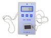 An Ion Tester shows the number of negative ions produced by the rectangular Scalar Energy Pendant