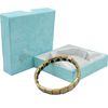 Quantum Bracelet - Titanium with 20 Germanium Balls, gold edge trim and complimentary gift box at Go Healthy Next