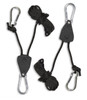 A pair of adjustable rope ratchets, for hanging the Sauna Fix 110 volt NIR lamp are included with purchase.