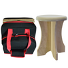 Sauna Poplar Stool and Stool Travel bag. The portable poplar stool seat is painted with a non-toxic milk paint.