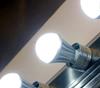 ION Brite anion led air purification light bulbs on display.