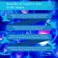 ​Why You Need Negative Ions in Your Sauna