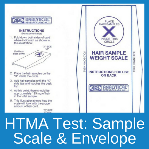 This sample scale and envelope are for  clients wishing to submit a hair sample for a HTMA retest.