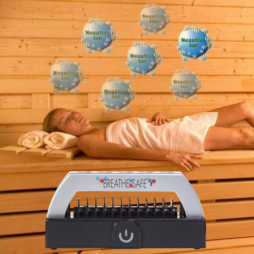 Sauna ION Generator for maximum sauna session benefits.