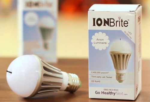 ION Brite® Anion LED   5 Watt Cool air purification light bulb