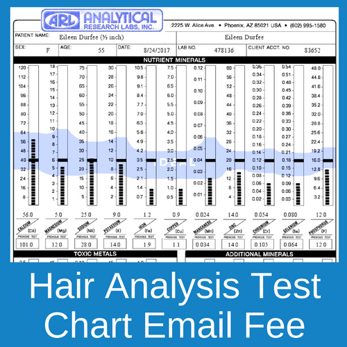 Receive your Analytical Research Labs hair analysis test results chart by email as soon as the results are ready.
