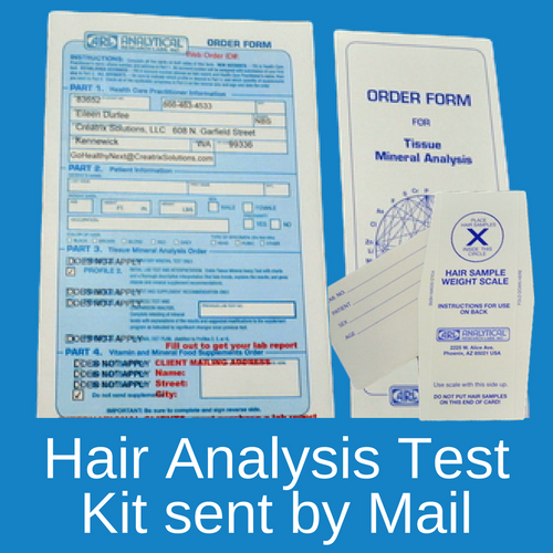 Hair Tissue Mineral Analysis Kit sent by mail to U.S. residents.