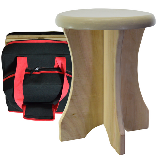 Portable poplar stool and travel bag at Go Healthy Next.