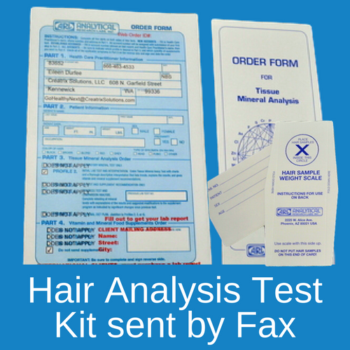 Hair Tissue Mineral Analysis testing kit sent to you by fax at Go Healthy Next.