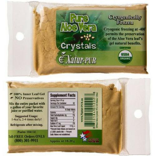 Natur-pur Aloe Vera Crystals supplement at Go Healthy Next