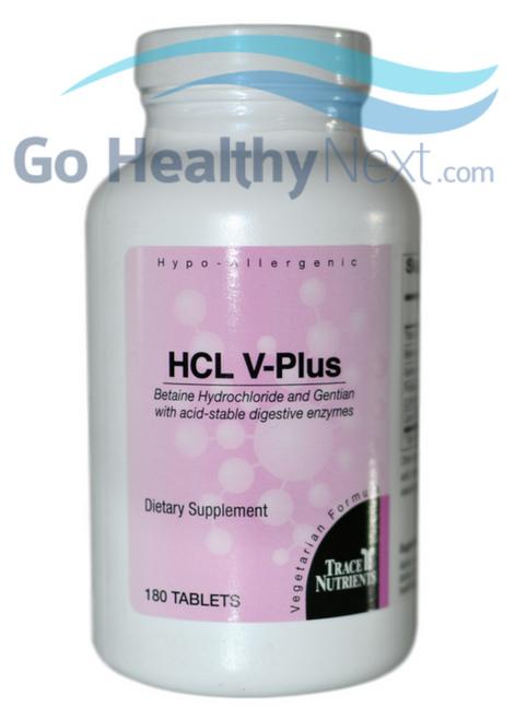 Trace Elements Inc. HCL V-Plus Tablets (180) at Go Healthy Next