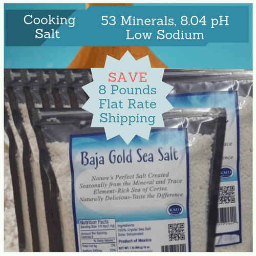 8 Pounds of Baja Gold Sea Salt in one pound bags