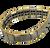 Quantum Bracelet - 80 Germanium Bells, Titanium Silver with Gold edge at Go Healthy Next