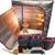 Sauna Fix® Ultimate Bundle 240V UK near infrared sauna, radiant tent, poplar stool, ionic sauna booster, rope ratchets, Stay Safe glasses, organic bamboo throw rug and travel/storage bags.