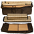 The Convertible radiant sauna tent panels and two natural bamboo floor mats all fit into a single travel storage bag.