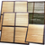 Two natural bamboo tent floor mats with radiant backing that easily fold for travel or storage.