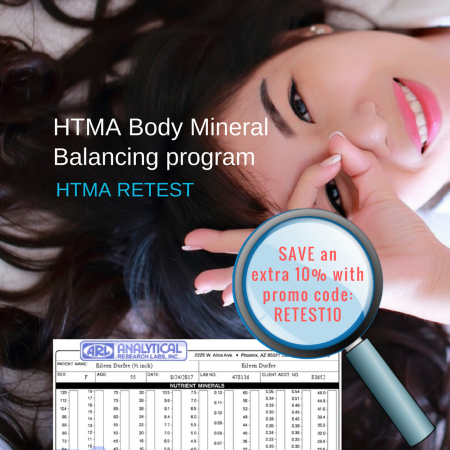 10 percent off Body Mineral Balancing Program HTMA Retest through June 20, 2018