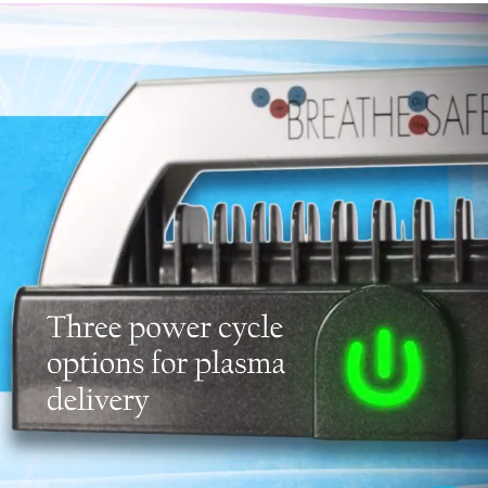 Breathe Safe offers a choice of 3 different plasma output cycles