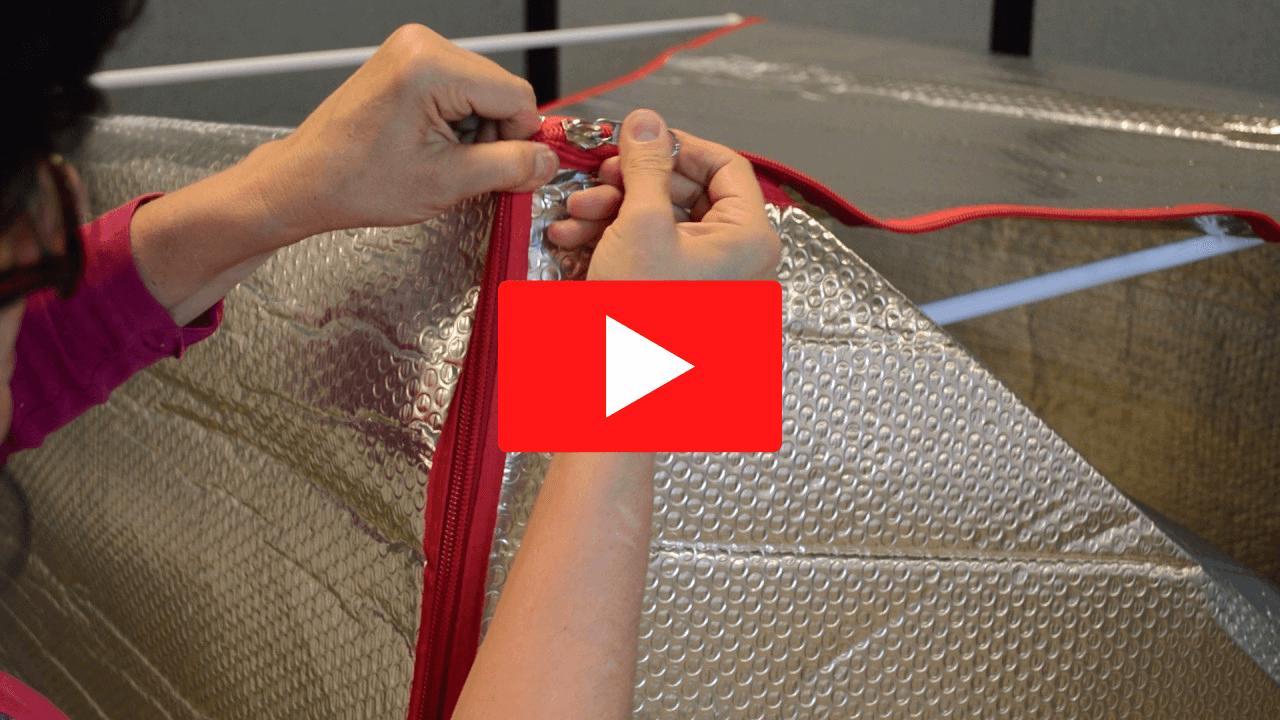 How to Zip Around Sauna Fix Tent Corners