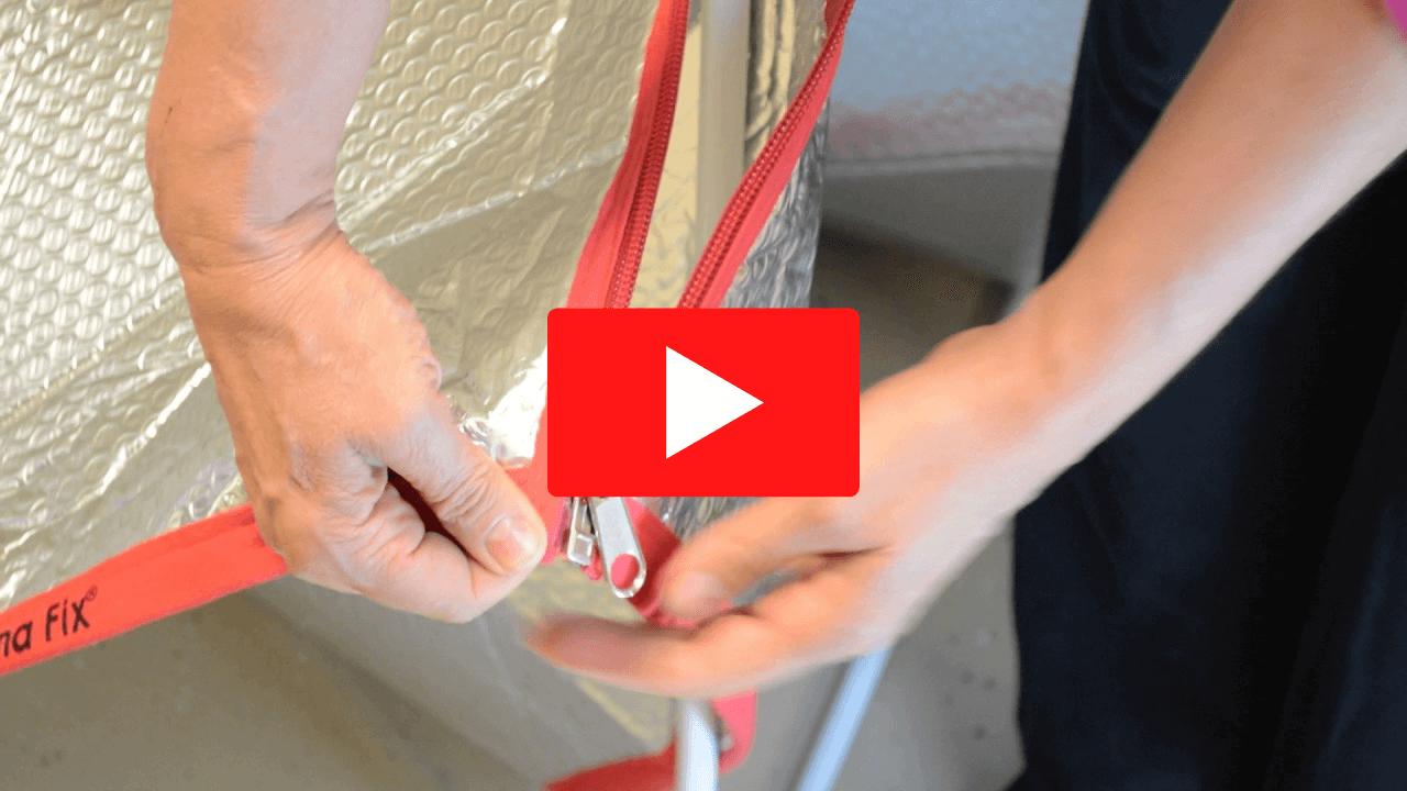 How to Zip Sauna Fix Tent Panels Together