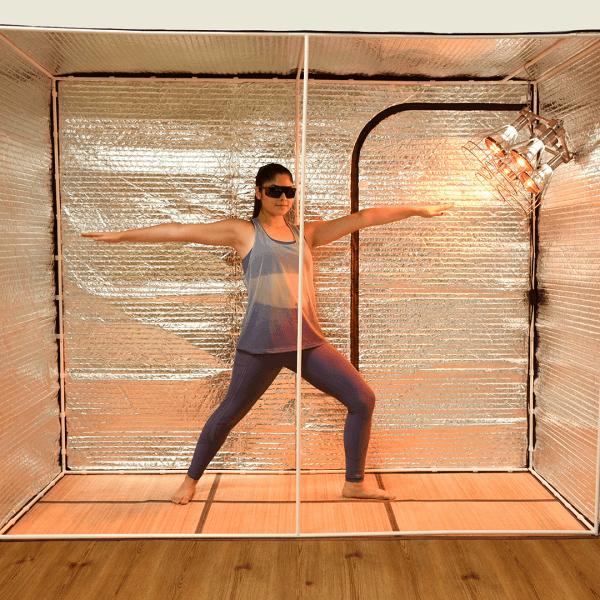 Exercising in Sauna