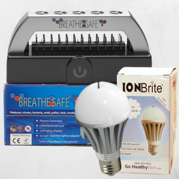 Breathe Safe and ION Brite air purifiers