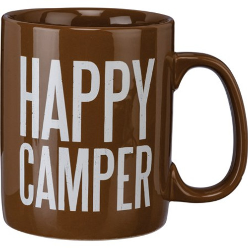 Mug - Happy Camper Brown
