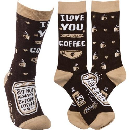 Socks - I Love You More Than Coffee