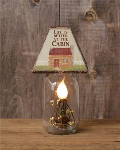 Electric Jar Light - Life Is Better At The Cabin