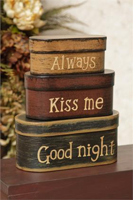 Nesting Boxes 3pc - Always Kiss Me Good Night