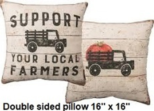 Pillow - Rustic Support Your Local Farmer
