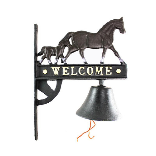Welcome Horse Bell Heavy Duty Cast Iron