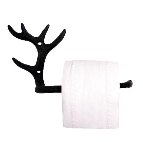 Antler Toilet Paper Holder - Cast Iron