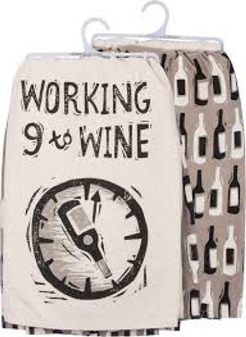 Kitchen Towel Set - Working 9 to Wine