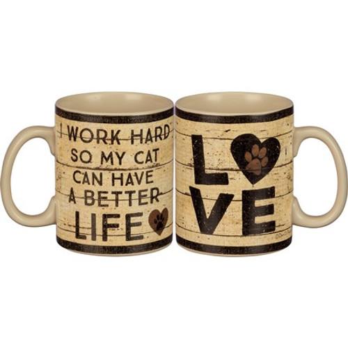 Mug - Cat Better Life 20oz