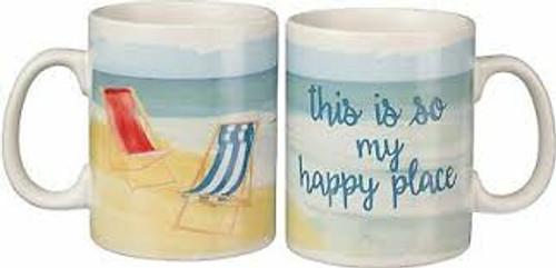 Mug - Beach is my Happy Place 20oz