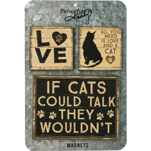 Magnet Set - All You Need Is Love And A Cat