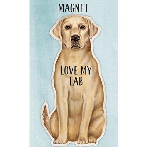 Magnet - Love My Yellow Lab