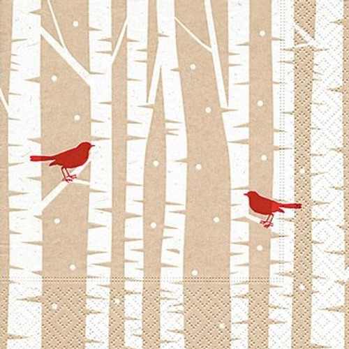 Red birds - Cocktail Napkin