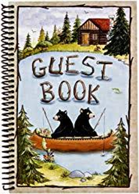 Camping Bear Lake Farmhouse Guest Signing Paperback 6x9