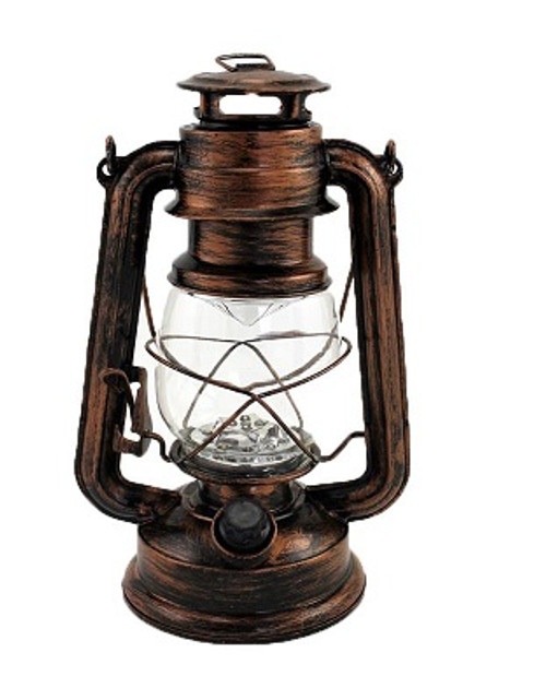 LED LANTERN BRASS WITH DIMMER LARGE