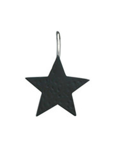 STAR SHOWER CURTAIN HOOKS - BLACK