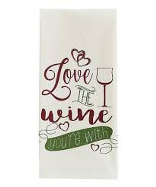 'Love the Wine' Dish Towel
